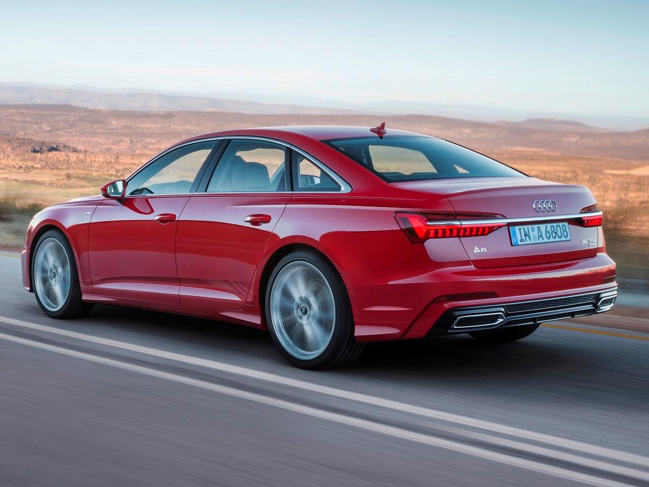 Trasera Audi A6 movimiento