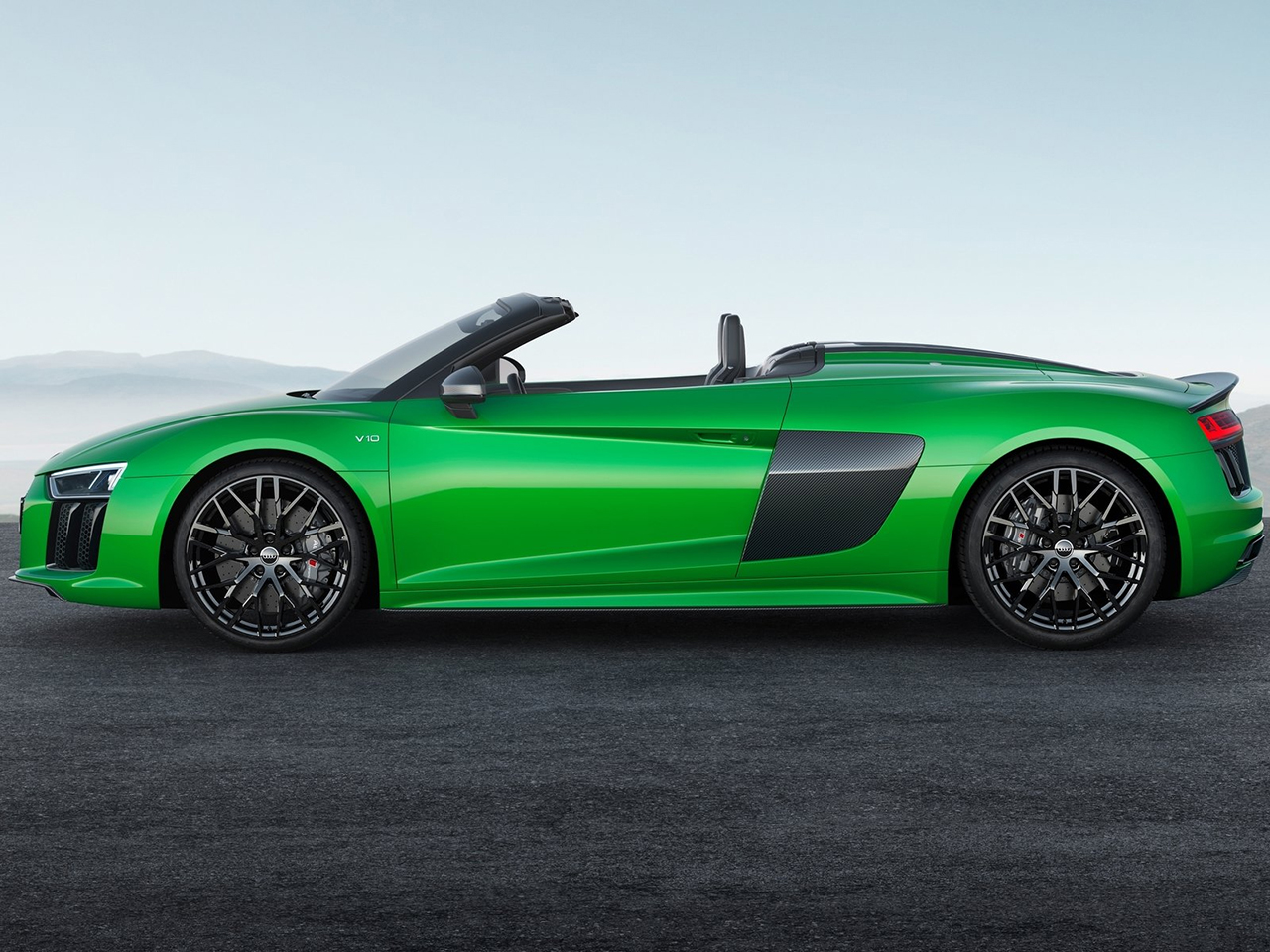 Lateral Audi R8 Spyder