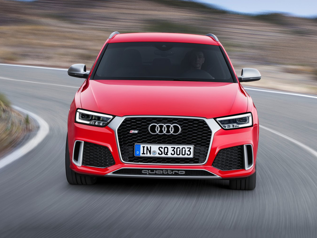 Frontal Audi Q3 RS