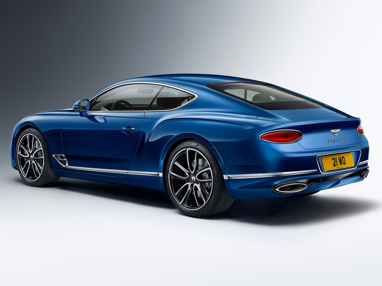 vista trasera bentley continental gt
