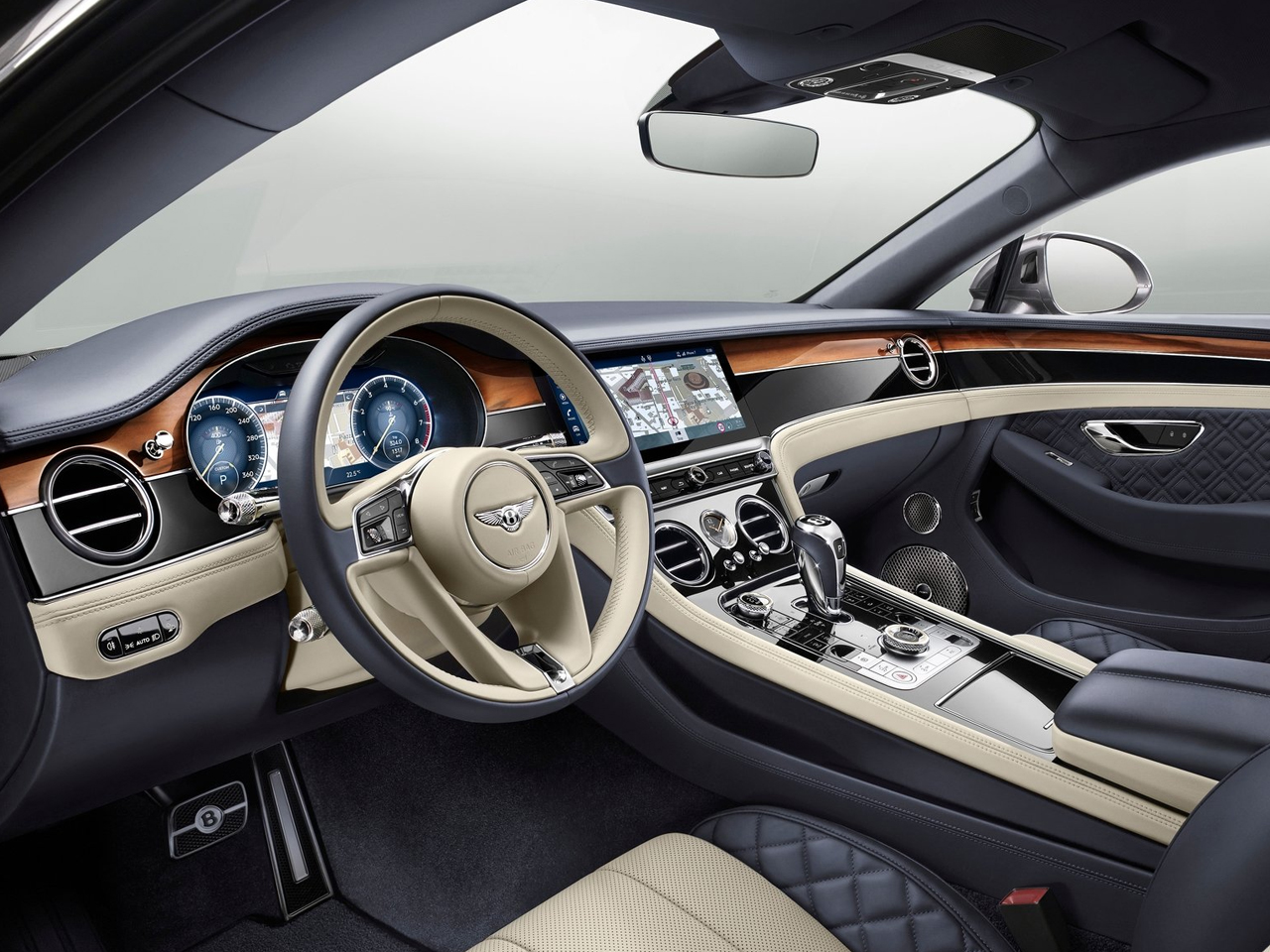 vista interior bentley continental gt
