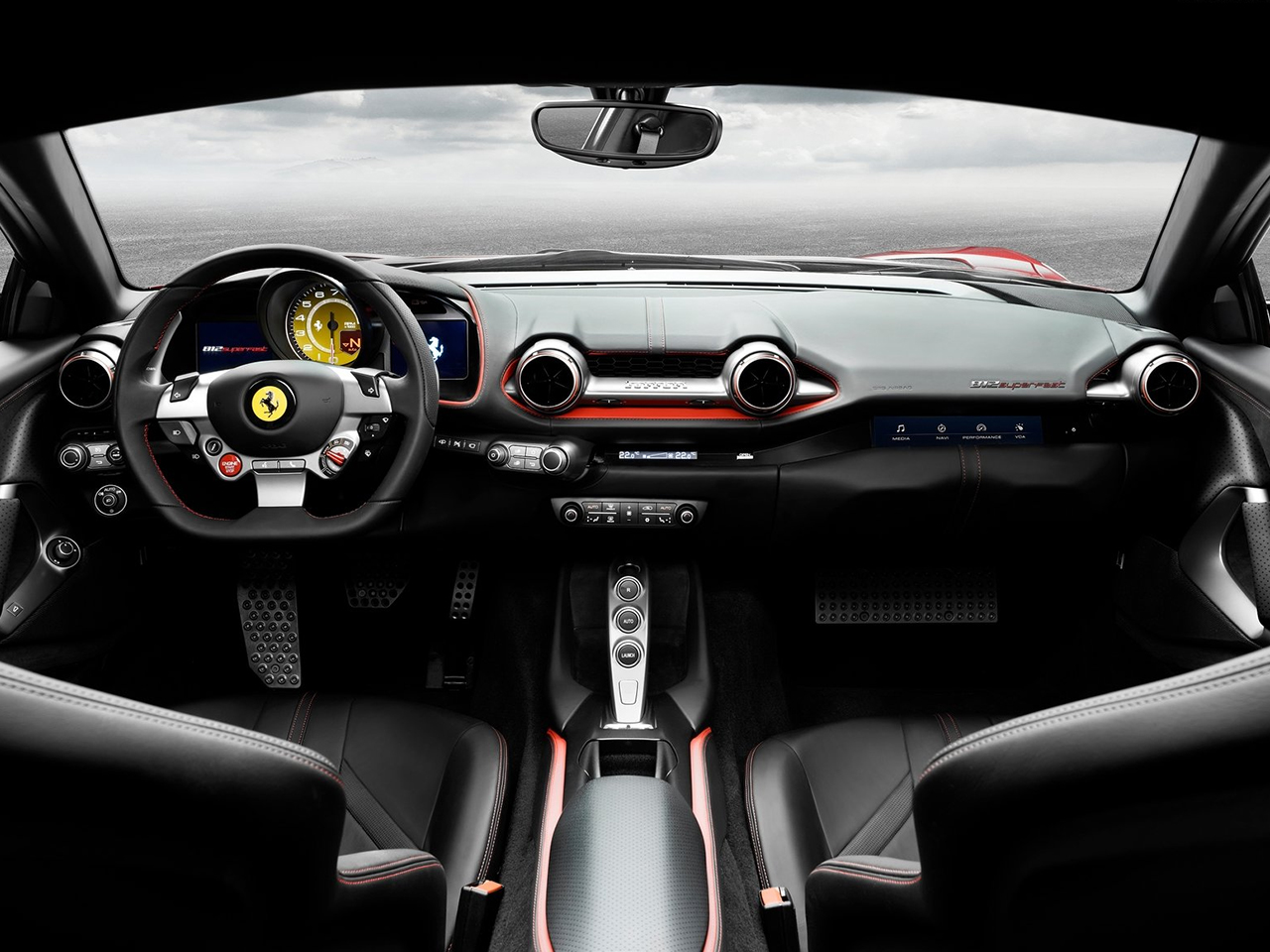 vista interior ferrari 812 superfast
