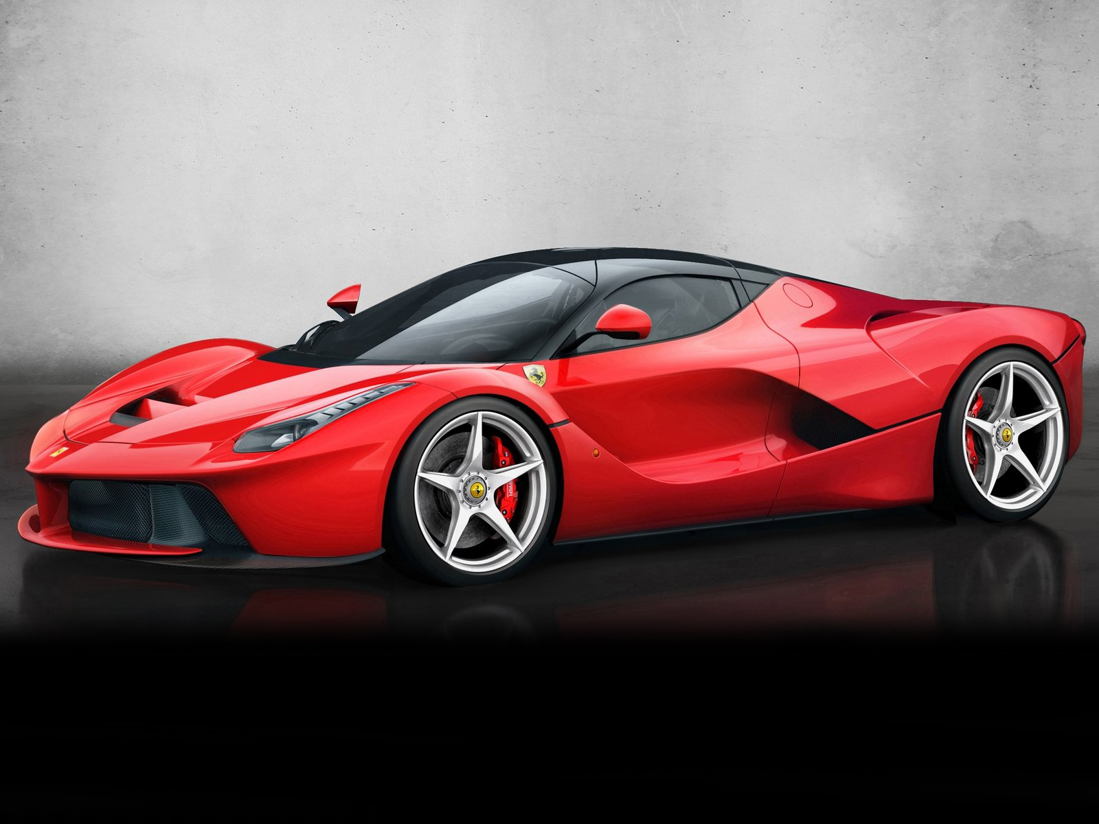 vista lateral ferrari laferrari