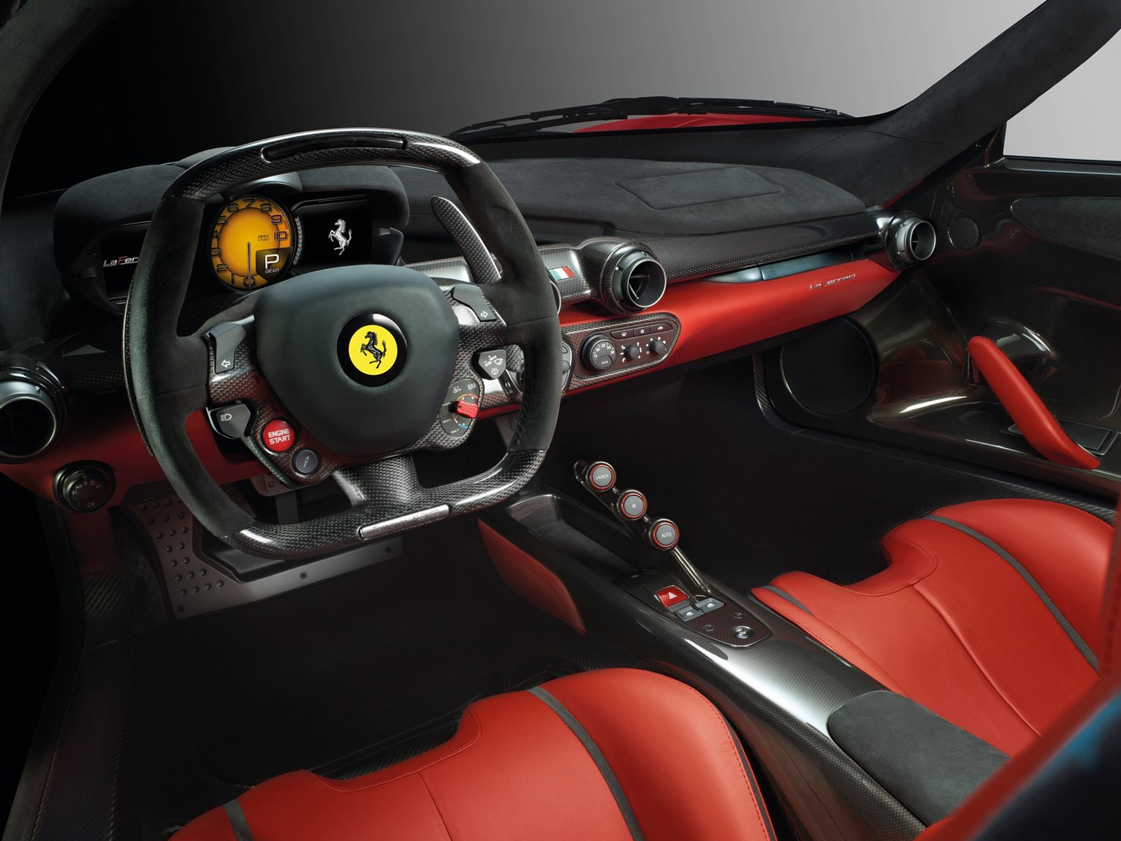 vista interior ferrari laferrari