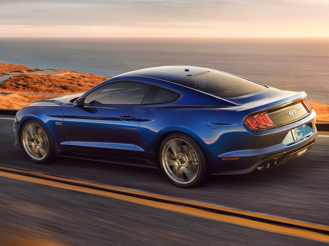 Trasera Ford Mustang