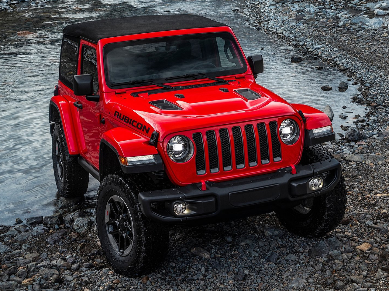 Frontal Jeep Wrangler Rubicon