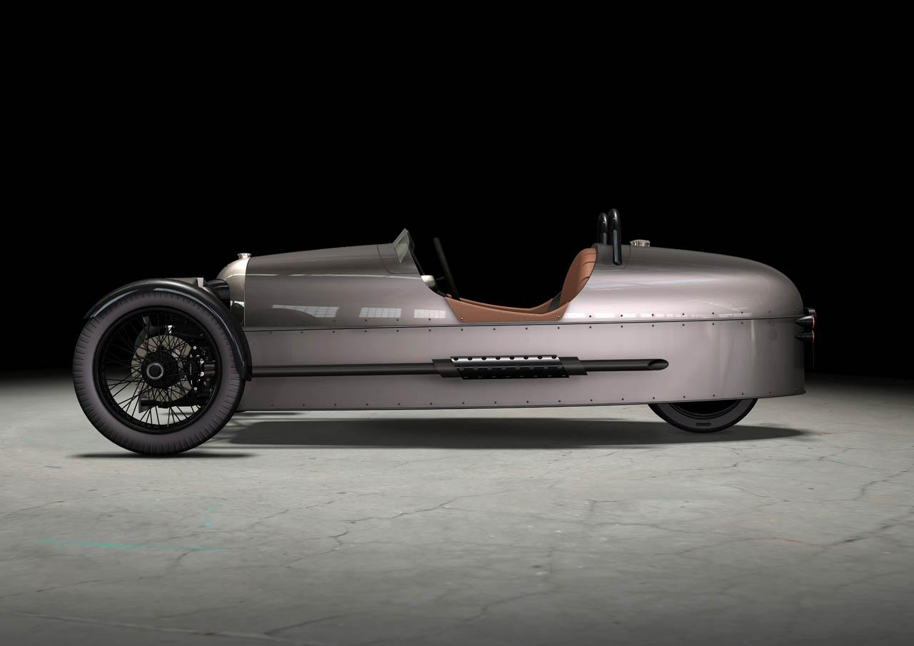 vista lateral morgan three wheeler