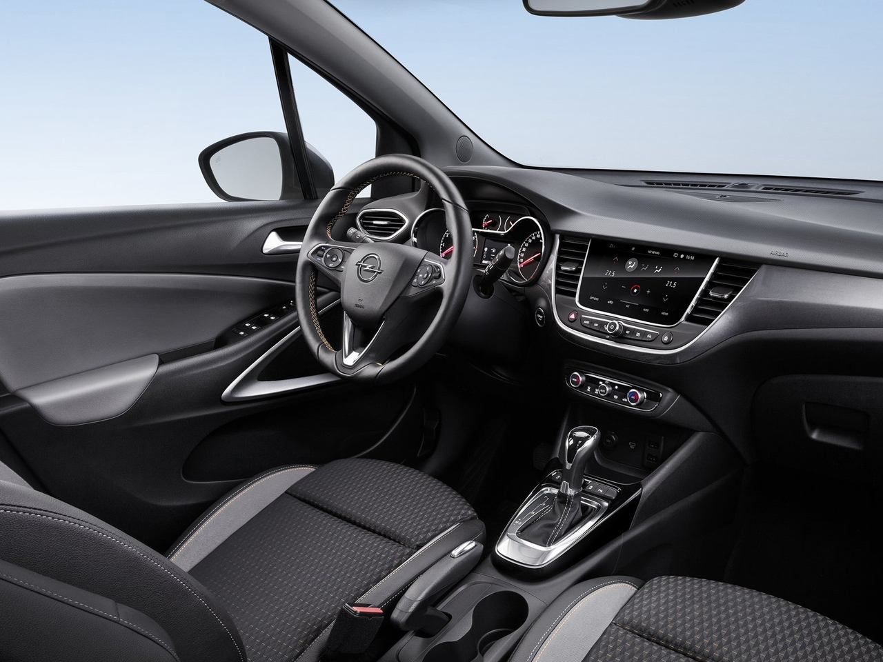 vista interior opel crossland x