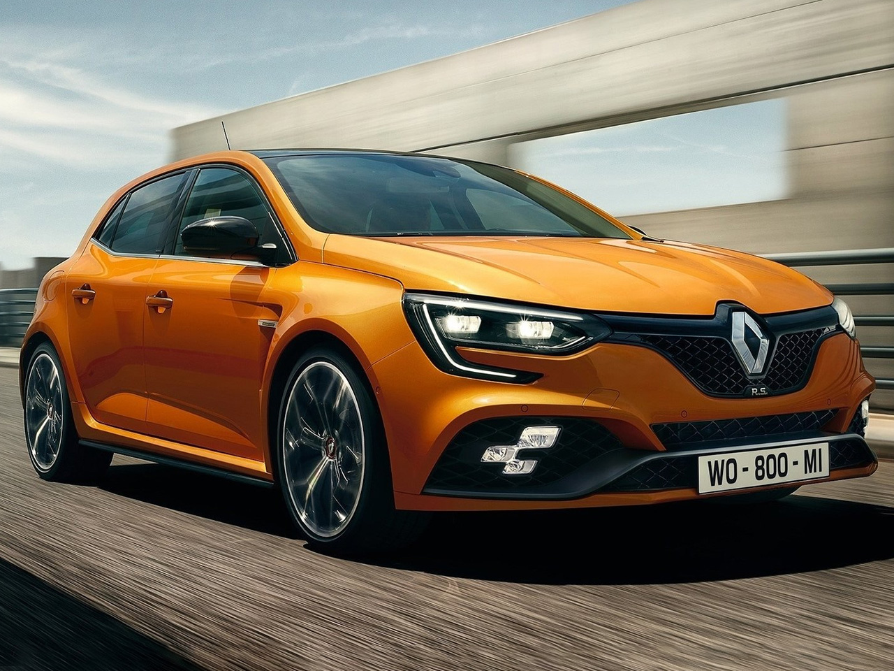 Frontal Renault Megane RS