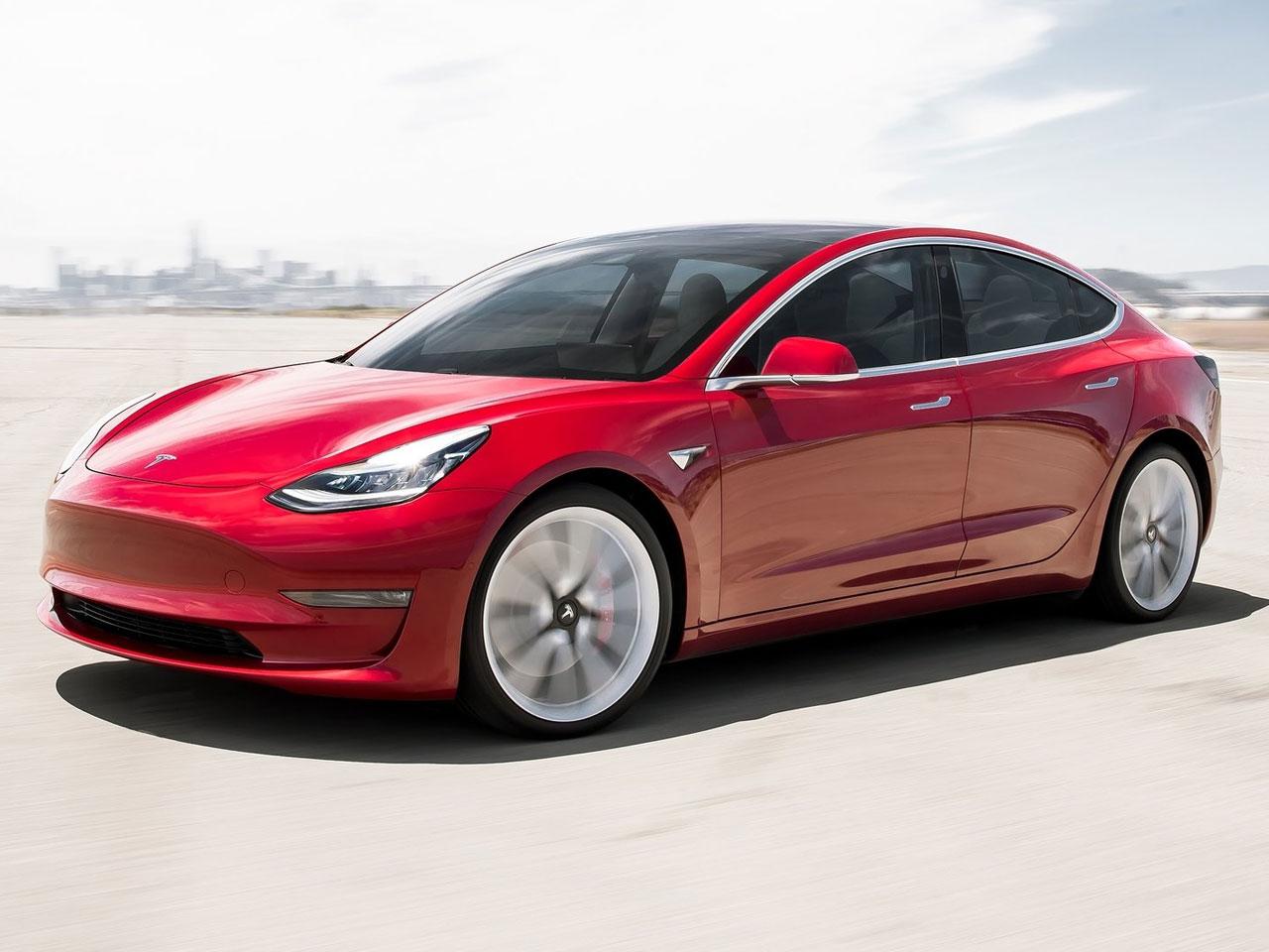 Frontal Tesla Model 3