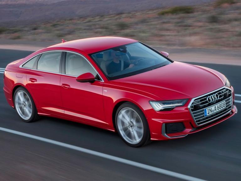 Frontal Audi A6 movimiento