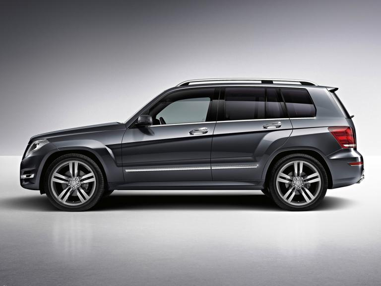 vista lateral mercedes clase glk