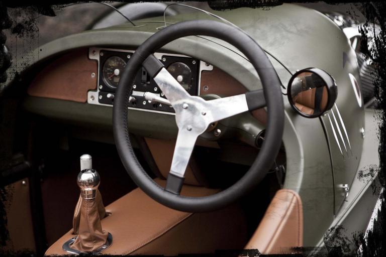 detalle interior morgan three wheeler