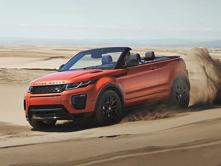 Diseño exterior del Range Rover Evoque Convertible
