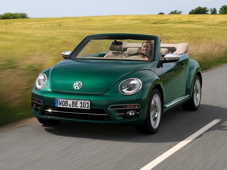 Frontal Volkswagen Beetle Cabrio